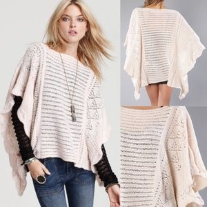 Free People Snow Nymph Cape - Ballet Pink